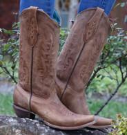 Corral Vintage Tan Cowhide Boots C1928 Picture