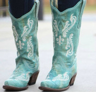 Corral Turquoise Blue Cortez Boots R1973 Picture