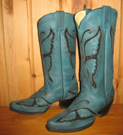 Corral Turquoise Butterfly Boots R1093 Picture