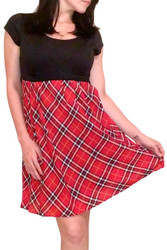 Black Dress with Red Plaid Lower!