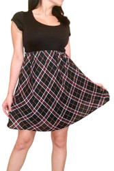 Black Dress with Black Plaid Lower!