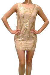 Gold Sequined Bodycon Dress from Nella Fantasia!