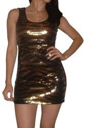 Black/Gold Dress with Micro Sequins for the Holidays!