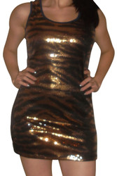 Blue/Gold Dress with Micro Sequins for the Holidays!