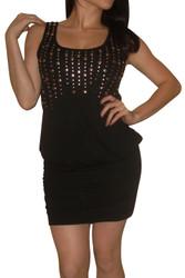 Black Bodycon Dress with Silver Studs!