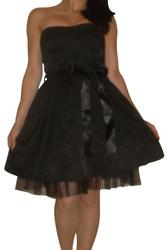 Perfect Holiday Little Black Dress! Black with Subtle Black Design.