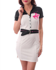 """$78 Tags! """"Beverly Hills Polo Club"""". DESIGNER INSPIRED COLLARED BUTTON UP SHIRT-DRESS WITH BELT & HOODIE!"""
