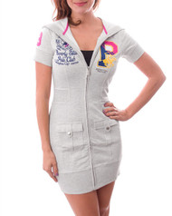 """$78 Tags! """"Beverly Hills Polo Club"""". 60% COTTON DESIGNER INSPIRED ZIP UP DRESS WITH HOODIE!"""