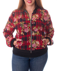 PLUS SIZE Floral Jacket in Red!