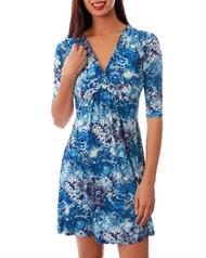 Blue & White V-Neck Dress!