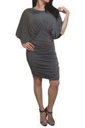 Charcoal Grey Dress with Bodycon Lower!