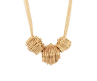 Necklace & Earrings Set of Gold Chain & Braided Springs!