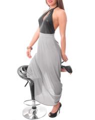 Grey & Charcoal Halter Maxi Dress!