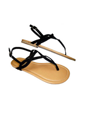 Twisty Black Straps make these Adorable Sandals a Trendy Look for Spring!