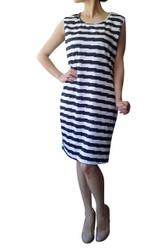 PLUS SIZE Black & White Striped Dress!