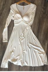 Boutique Quality! V-Neck White Dress from Boutique Brand: Dulce Carola!