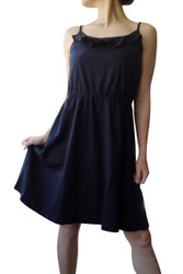 ANN TAYLOR LOFT! 100% COTTON! HIGH QUALITY SOLID BLACK DRESS!