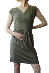 ANN TAYLOR LOFT! 100% COTTON! HIGH QUALITY SOLID GREEN DRESS!