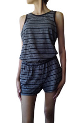 ROMPER / JUMPER FROM MAJOR NAME BRAND! 67% COTTON! BANDED WAIST, POCKETS, AND KEYHOLE BACK!