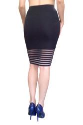 Classic & Classy Black Stretch Pencil Skirt!