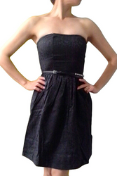 Strapless Black Lace Dress comes with the Studded Belt!