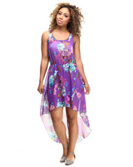 Purple Floral Dress from Roommates!