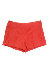 Sexy Hi-Waist Shorts with Zip Side and Pique Texture! Red.
