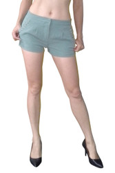 Sexy Shorts with Front Pockets trimmed with Bolt Studs! High Quality from a Seriously HOT Brand! Teal.