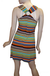 Halter Dress with Metallic Ring Back! Chevron Print.