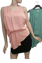 Beautiful, Coral Dolman Top is 3% Silk!