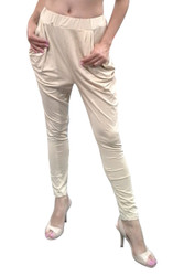 Parachute Pants are a Retro Classic in Silky Beige!