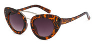 HIGH QUALITY UV400 PROTECTION SUNGLASSES. SUBTLE CAT EYE FRAME SHADES. BROWN TORTOISE SHELL PATTERN.