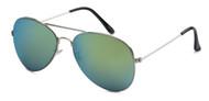 HIGH QUALITY UV400 PROTECTION SUNGLASSES. CLASSIC AVIATORS! GREEN-ISH TINTED LENS.