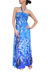 BEAUTIFUL PAISLEY MAXI DRESS! STRAPLESS OR HALTER. TEAL DESIGN.