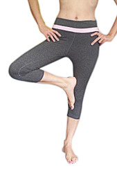 Yoga Pants/Active Wear Are Awesome Quality! Grey With Baby Pink Stripes.