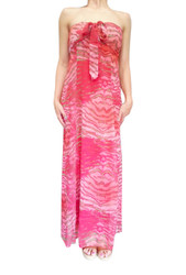 ONE SIZE MAXI DRESS! HALTER OR STRAPLESS. RED. ONE SIZE (Up to Size 18).