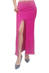 NORDSTROM'S QUALITY Long, Ankle Length Maxi Skirt with Slits. Solid Fuchsia.