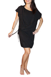 NORDSTROM'S QUALITY BLACK HI-LOW TUNIC TOP/DRESS WITH COLLAR!
