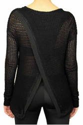 NORDSTROM'S QUALITY Black Sweater with Criss-Cross Back!