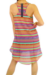 Aztec Stripes & Zipper Back Hi-Low Top/Dress. $22.90 Tags from WET SEAL!