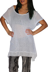 Plus Size White Crochet Dress Is 50% Rayon!