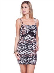 Brown Cheetah Print Bodycon Dress with Sequin Accents from DAY & NIGHT!