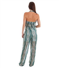 Halter Top Sheer Green Jumpsuit is a Fashion Statement!