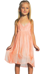 KIDS / GIRL'S PINK TIE DYE DRESS WITH SPAGHETTI STRAPS!