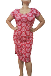 Plus Size Dress In Red Bandana Paisley.