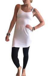 Seamless Dress with Fitted Middle! Crisp White.
