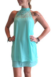 Mint Halter Top/Dress with Lace Chest from MY BELOVED!