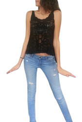 BLACK LACE SLEEVELESS TOP FROM NABEE!