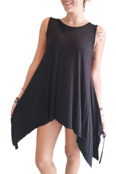 Black Tank Style T-Shirt Dress! 98% Rayon.