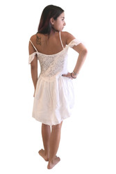 Ivory White Lace Dress with Cutout Shoulders - from America's Hottest Brand!